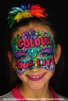 Colour is my life by Belinda Wurmitzer Henna Paint, Party Pictures, Body Art, Graffiti, Colour, Face, Painting, Ideas, Color