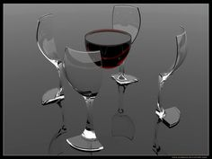 Wine, deconstructed.  Rendered using Rhino / 3ds max / v-ray by DjDrako on deviantart