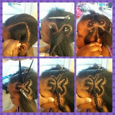 Butterfly design ( protective style) Follow for more styleshttp://www.yeahsexyweaves.tumblr.com