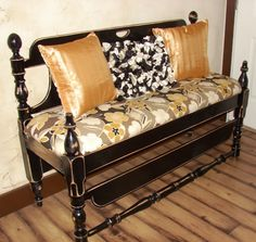 <3 made from twin headboard and footboard