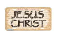 GOD IS MY PILOT RELIGIOUS CHRIST Heavy Duty Metal License Plate Frame Tag