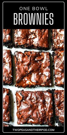 The best homemade brownie recipe from scratch that's so chewy, gooey, and chocolatey with shiny crackly tops! This quick and easy chocolate dessert only needs one bowl and will quickly become your go-to treat. Save this pin to learn some tips and tricks to perfect this sweet treat! Easy Chocolate Desserts, Easy No Bake Desserts, Easy Baking Recipes, Chocolate Chip Recipes, Sweets Recipes, Sweet Desserts, Delicious Desserts, Snack Recipes, Yummy Food