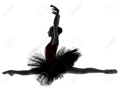 One Caucasian Young Woman Ballerina Ballet Dancer Dancing With ...