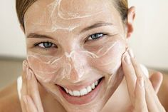 Mix a tbsp of honey and 1 tsp of baking soda to get a facial cleanser that also acts like a scrub.