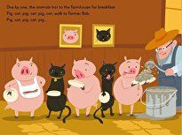 Pig, cat, pig, cat ... children work on patterning skills with this interactive story.