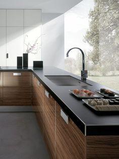 meuble cuisine en bois par Biefbi modèle Elba