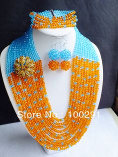 Newest Special Design For Girls!!! African Wedding Jewelry, Crystal Jewelry Set MN-054 $77.50