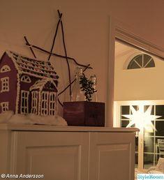 pepparkakshus,stjärna,trälåda,lantligt,advent,jul