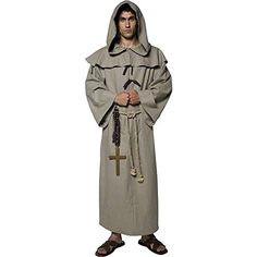 Friar Tuck Adult Costume  Medium *** You can find more details by visiting the image link-affiliate link. #Halloween