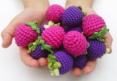 Crochet baby toy, Teething baby toy, Grasping and Teething snake Toys , stuffed toys snake for baby! Childrens Kitchens, Crochet Baby Toys, Play Food, Fabric Bags, Pretend Play, Your Child, Raspberry, Berries, Meal