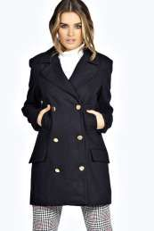 Ivy Double Breasted Melton Wool Mix Coat, From #Boohoo. Use promo codes and discount codes for discounts.