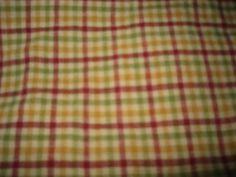 Fall Homespun Fabric/Destash/Checked/Yellow/Green/Burgandy/Sewing/Crafts