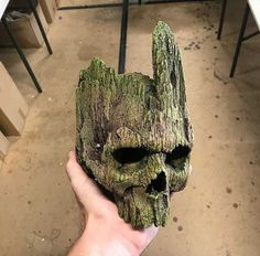 Tagged with marvel, guardiansofthegalaxy, groot; I was Groot Skull Reference, Masks Art, Crystal Skull, Skull And Bones, Mask Design, Skull Art, Wood Sculpture, Wood Carving, Wood Art