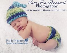A super cute crochet beanie and diaper cover pattern set. They work up super fast and are perfect for boys and girls!