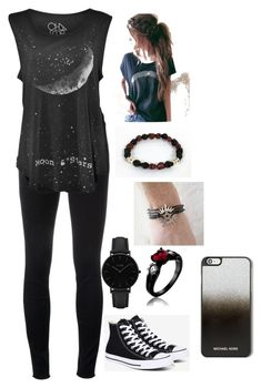 Untitled #99 by summerdawn509 on Polyvore featuring polyvore fashion style J Brand Converse CLUSE MICHAEL Michael Kors clothing