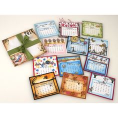 Make a stunning miniature calendar with help from Suzanne Czosek for Stampendous. this is a wonderful source of inspiration! Kalender Design, Miniature Calendar, Scrapbook Cards, Scrapbooking, Camping Crafts, Paper Gifts, Craft Fairs, Making Ideas, Calendar Ideas