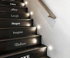 schody s nápisy :)