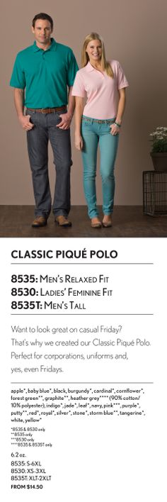 UltraClub Classic Pique Polo (8535/8530/8535T)