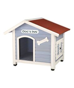 Look at this Blue & White Dog House on #zulily today!