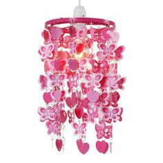 Girls Pink Ceiling Pendant Shade by MiniSun, http://www.amazon.co.uk/dp/B004TAAUNY/ref=cm_sw_r_pi_dp_j3rIsb17NFSB7