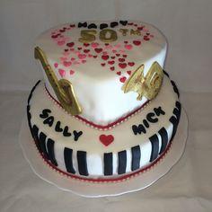 Musical anniversary cake