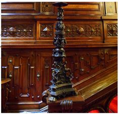 Peles castle carved staircase #finewoodwork
