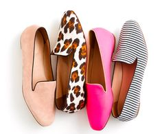 colorful spring loafers