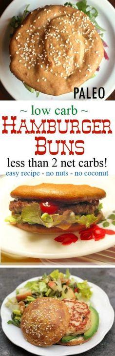 Paleo Hamburger Bun - Tahini Bread (keto, low carb, nut free)