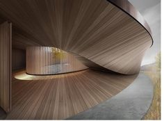 Wood Architecture, School Architecture, Beautiful Architecture, Architecture Details, Parametric Architecture, Smart Home Design, Ceiling Texture, Stair Handrail, Modern Staircase