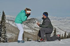 """He Proposed on a Ski Slope"" yaaa that's perfect"