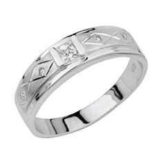 .925 Sterling Silver CZ Checkerd Mens Wedding Ring Band The World Jewelry Center. $29.00. Fashionable and elegant styling. Made From Beautiful .925 Sterling Silver. Special manufacturing process held to ensure less wear and tarnish. Promptly Packaged with Free Gift Box and Gift Bag