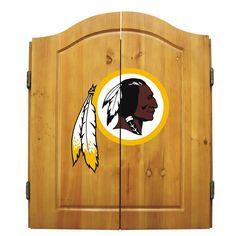 Washington Redskins Dart Board & Cabinet