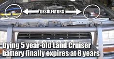 Toyota Land Cruiser battery finally dies at 8 years, optimized by the Infinitum Desulfator