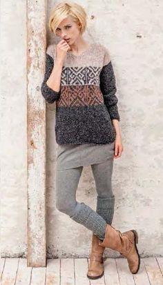 Fair Isle Knitting Patterns, Knitting Stitches, Knitting Designs, Baby Knitting, Ropa Free People, Fair Isle Pullover, European Fashion, Pulls, Knitwear