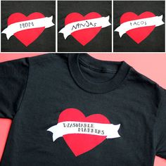 Love this idea!! Got a Fickle Heart? Make This Write & Wash T-Shirt   Spoonful