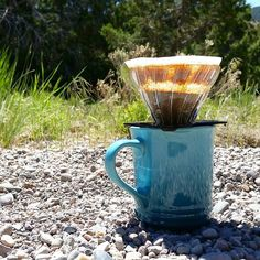 Last day of trail #coffee - gonna be home tonight!  #pourover #v60 #lecreuset #georgehowell #campcoffee http://ift.tt/20b7rle