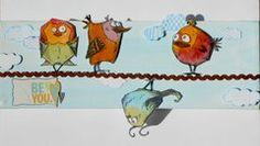Bird crazy canvas