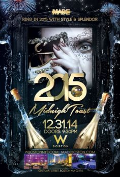 MidnighToast NYE 2015 at W Boston -- Ring in 2015 in style with this lavish New Year's Eve party that features two floors of entertainment, multiple bars and dance floors, plus a VIP room and pre-party lounge. The NYE bash also includes a four-hour premium open bar, live deejays playing Top 40 and EDM on each floor as well as a midnight countdown and toast to the new year.