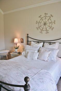 The Farmhouse Porch: The Master Bedroom Pretty Bedroom, Master Bedroom, Porch, Farmhouse, Overland Park, Simple, Bedroom Ideas, Furniture, Home Decor