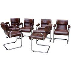 Wondrous Mid Century Cognac Leather Tubular Chrome Lounge Chair Bralicious Painted Fabric Chair Ideas Braliciousco