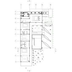 Ground floor plan of Baaq House by Alfonso Qunones