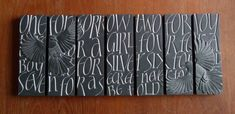 Louise Tiplady - Other carved lettering