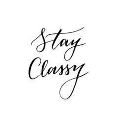 Trendy calligraphic quote