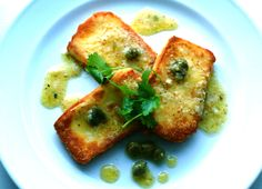 Fried Halloumi with Lime & Caper Dressing --- Um, hello, fried cheese! How have I yet to discover Halloumi??