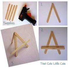 {Craft} DIY Mini Easels   That Cute Little Cake