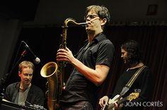 Tenorist Donny McCaslin w/ Matt Mitchell & Tim Lefebvre in Granollers, Feb 1, 2013 #jazz #photo by Joan Cortès
