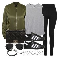 """Sin título #11926"" by vany-alvarado ❤ liked on Polyvore featuring Topshop, Chanel, Ray-Ban, ASOS and Links of London"