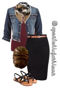 """Apostolic Fashions #1175"" by apostolicfashions on Polyvore featuring maurices and Burberry"