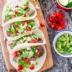 Heath beef tacos