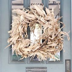 """Michele's Instagram photo: """". I love using natural elements in my home decor. I made these cornhusk wreaths a couple of years ago and was so happy with how they…"""""""